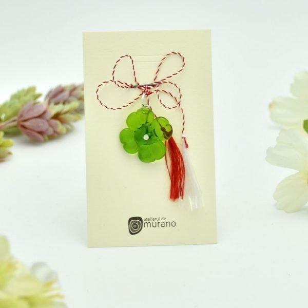 martisor murano trifoi verde