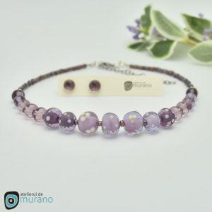 colier murano purple spring