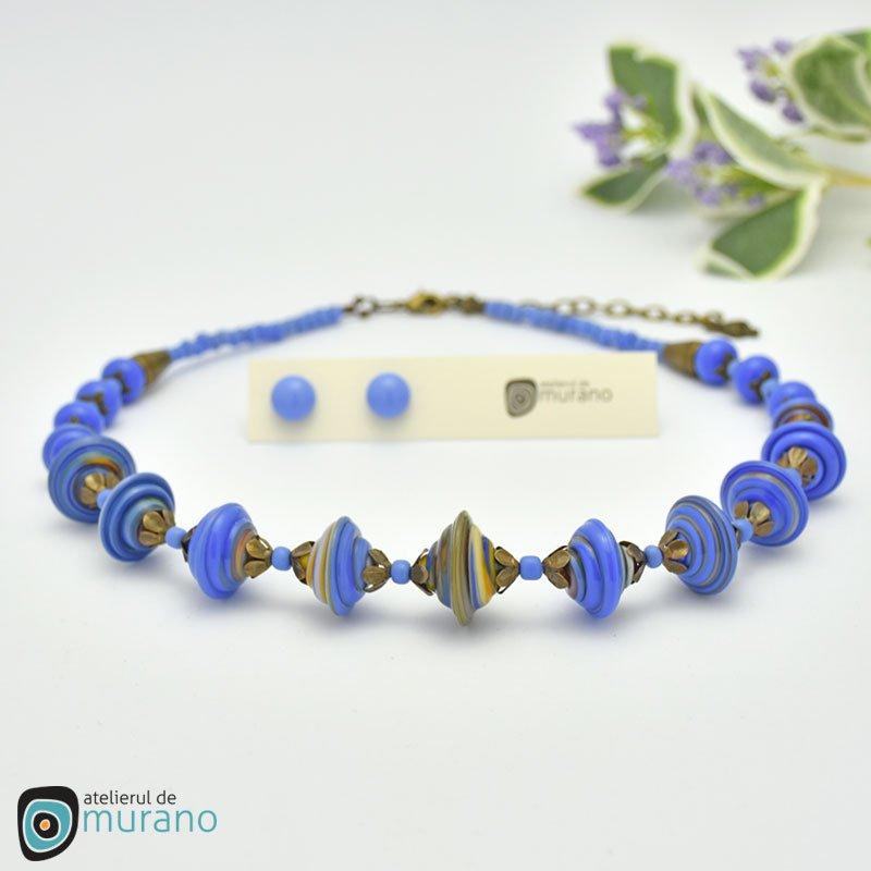 colier murano twist french blue