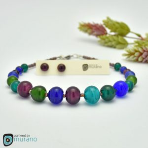 colier murano water amethyst